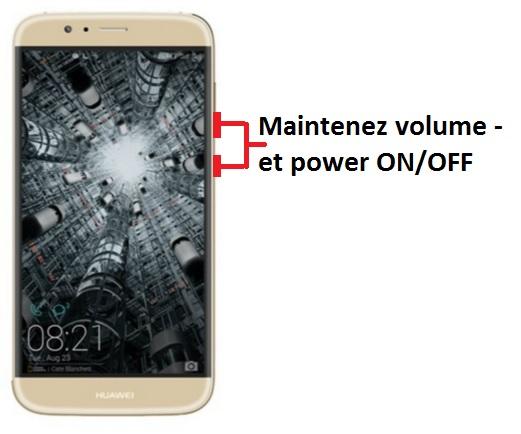 Huawei G8 capture écran