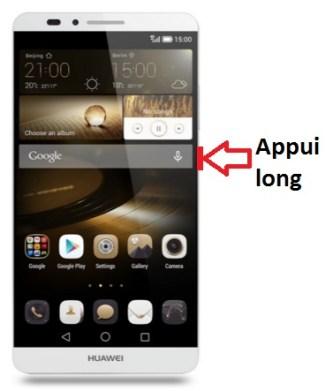 Huawei Ascend Mate 7 allumage