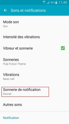 Personnaliser Samsung thème sonnerie fond d'écran aide notif
