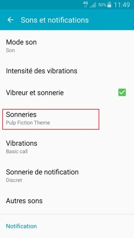 Personnaliser Samsung thème sonnerie fond d'écran aide sonnerie