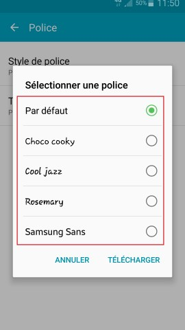 Personnaliser Samsung thème sonnerie fond d'écran style de police 2