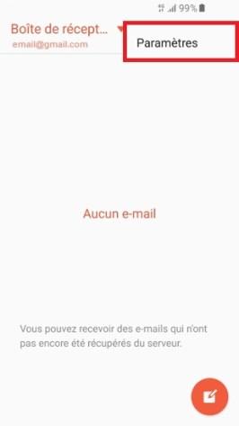 mail Samsung-email plus param