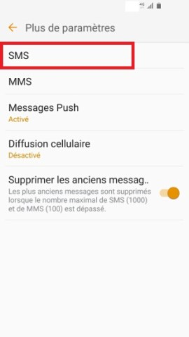 SMS Samsung android 6