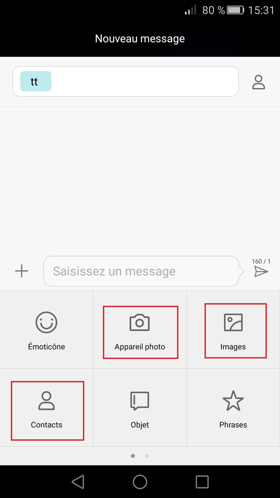 MMS Huawei android 7.0 (envoyer, recevoir, enregistrer