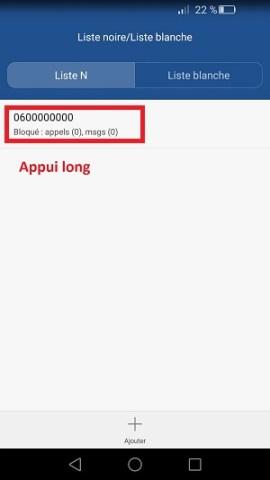 SMS Huawei accusé de réception