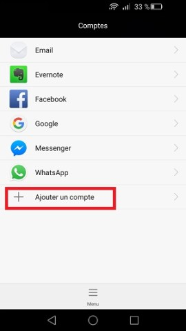 compte Google Huawei