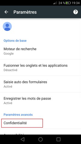 huawei internet chrome confidentialité