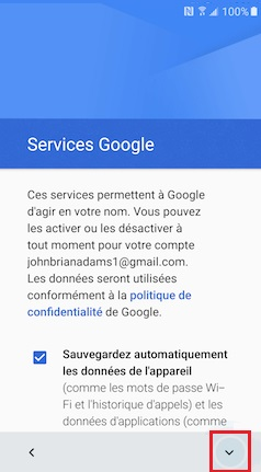 Activation Alcatel service google