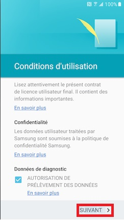 Activation Samsung (android 6.0) condition 6