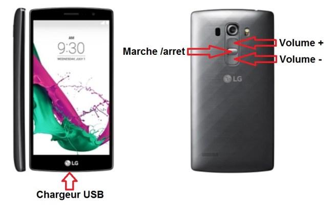 LG G4s bouton