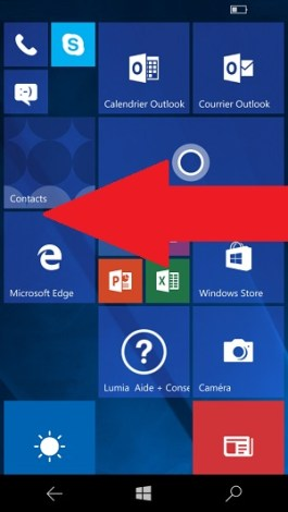 contact code pin ecran verrouillage Microsoft Nokia Lumia (Windows 10)