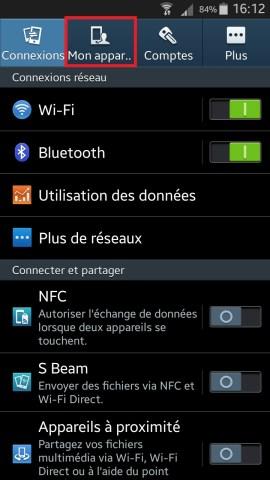 contact code pin ecran verrouillage Samsung (android 4.4) parametre mon appareil