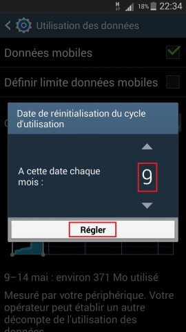 internet Samsung android 4 utilisation donnée cycle 2