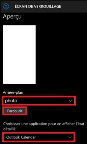 Personnalisation Lumia windows 10 fond ecran