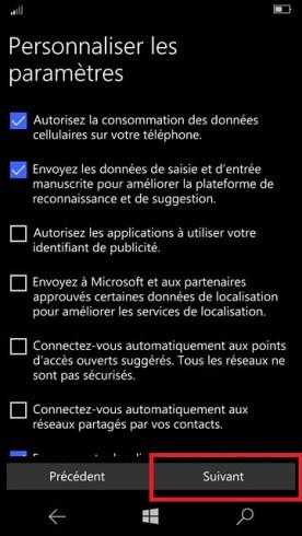 Activation Microsoft Lumia Windows 10 personnalisation 11