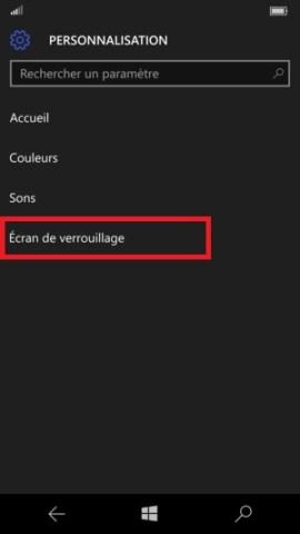 contact code pin ecran verrouillage Microsoft Nokia Lumia (Windows 10) verrou
