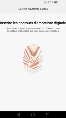 contact code pin ecran verrouillage Huawei (android 6.0) empreinte