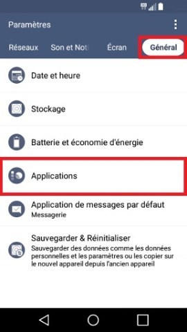 Applications LG android 5 . 1 general application