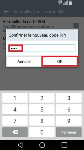 contact code pin ecran verrouillage LG android 5.1 code pin 6