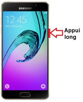 Samsung Galaxy A5 2016 allumage