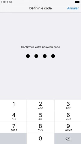 contact code pin ecran verrouillage iPhone 6