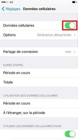 MMS iPhone 6, 6S, Plus, SE données cellulaires