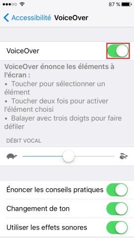 Trucs et astuces iPhone 6 6S plus SE-voiceover-