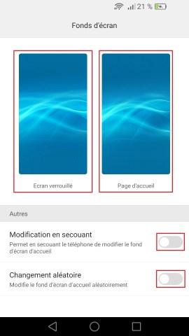 Personnaliser Huawei thème sonnerie fond d'écran android 6.0 fond ecran 2