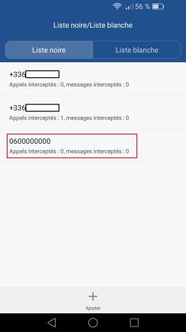 SMS Huawei android 6 . 0 numero bloquer