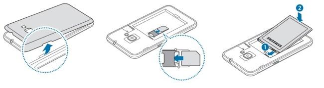 Samsung J1 2016 carte SIM