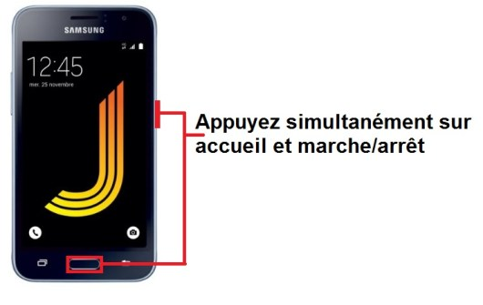 Samsung Galaxy J1 2016 screenshot
