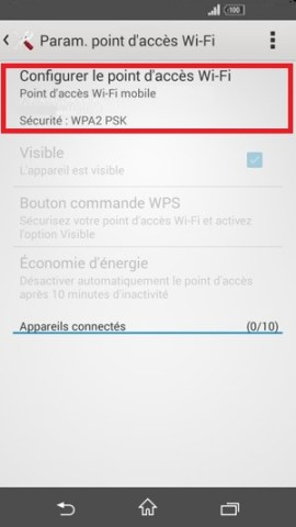 internet Sony android 4 . 4 configurer point dacces