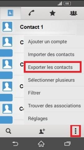 contact code pin ecran verrouillage Sony (android 4.4) contact exporter tel vers sim
