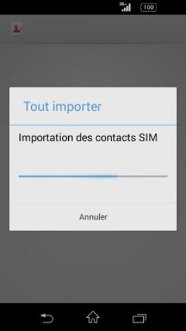 contact code pin ecran verrouillage Sony (android 4.4) contact importer SIM vers tel 4
