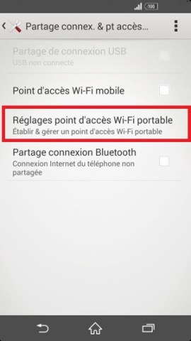 internet Sony android 4 . 4 reglage modem