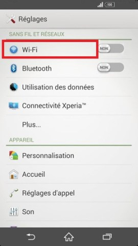internet Sony android 4 . 4 wifi