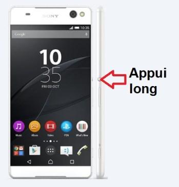 Sony Xperia C5 ultra allumage