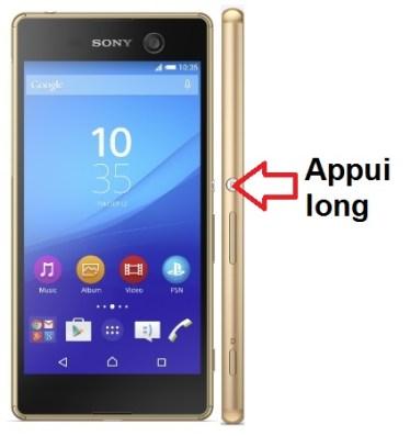Sony Xperia M5 allumage