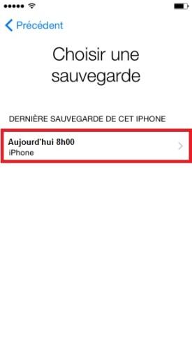 iPhone 6 restauration icloud
