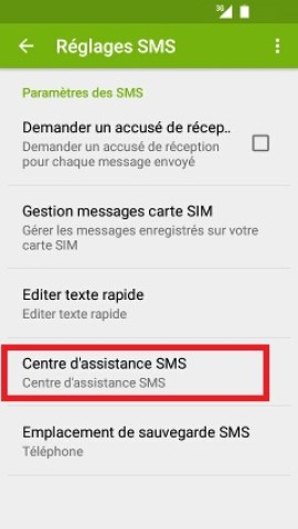 SMS Wiko android 5.1