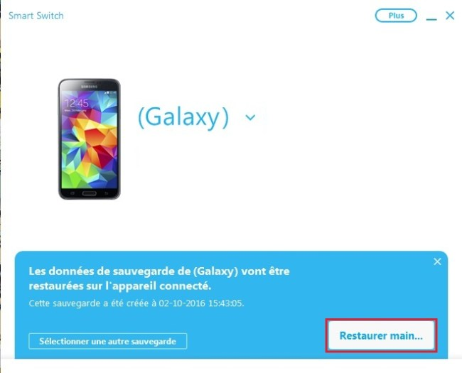 Samsung Smart switch-restauration-mtn