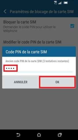 contact code pin ecran verrouillage HTC (android 6.0)-modif-pin