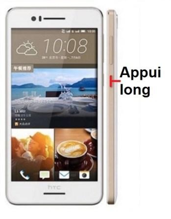 HTC Desire 728-allumage