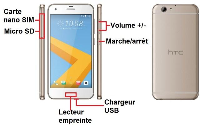 HTC One A9-bouton