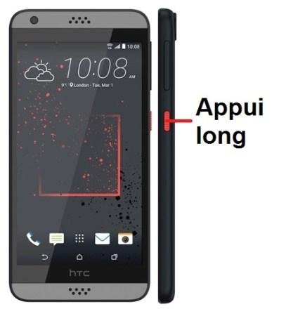 HTC Desire 825-allumage