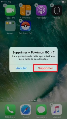 applications iPhone 6 6S Plus SE supprimer