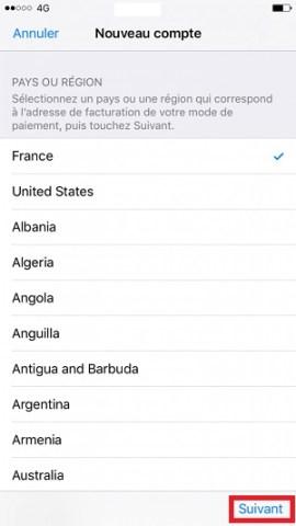 Compte apple langues