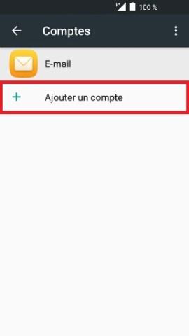 mail Alcatel android 6.0 ajout un compte