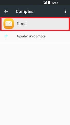 mail Alcatel android 6.0 compte email