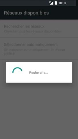 Échec réseau appel Alcatel android 6.0 recherche